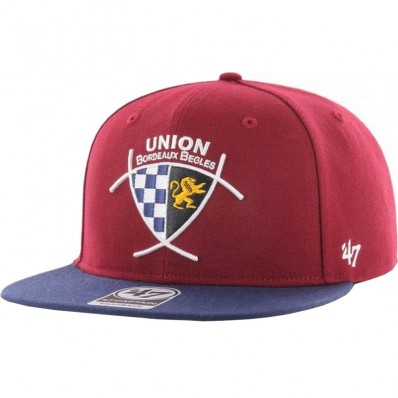 Casquette SnapBack Captain Union Bordeaux Bègles '47 rouge marine