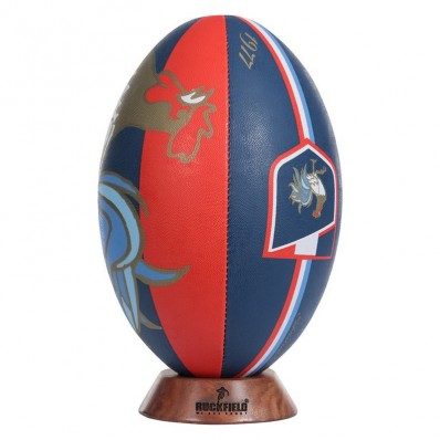 Ballon rugby French Rugby Club Ruckfield marine rouge