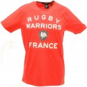 Tee shirt homme manche courte 15 de France Rugby Warriors rouge