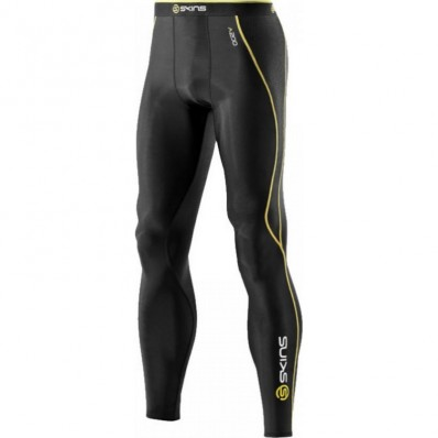 Legging A200 Compression Long Tights Skins noir jaune