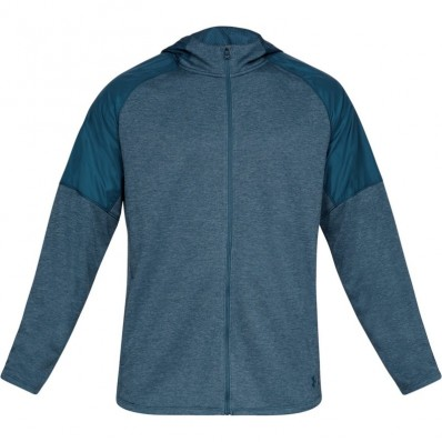 Sweat capuche zippé MK1 Terry FZ Under Armour bleu pétrole