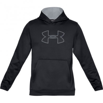 Sweat capuche Performance Fleece Graphic Under Armour noir gris