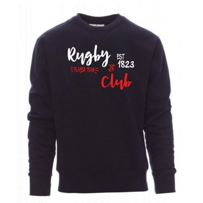 sweat pull rugby & club blanc rouge / marine adulte