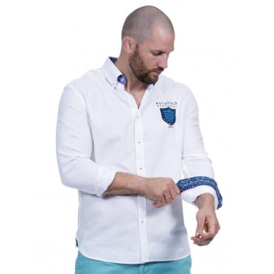 CHEMISE ML Blanc WE ARE RUGBY