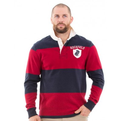 POLO ML Rouge fonce