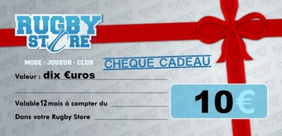 Bon d'Achat RUGBY STORE 10 €