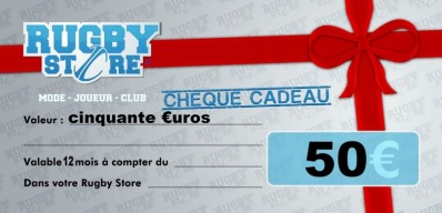 Bon d'Achat RUGBY STORE 50 €