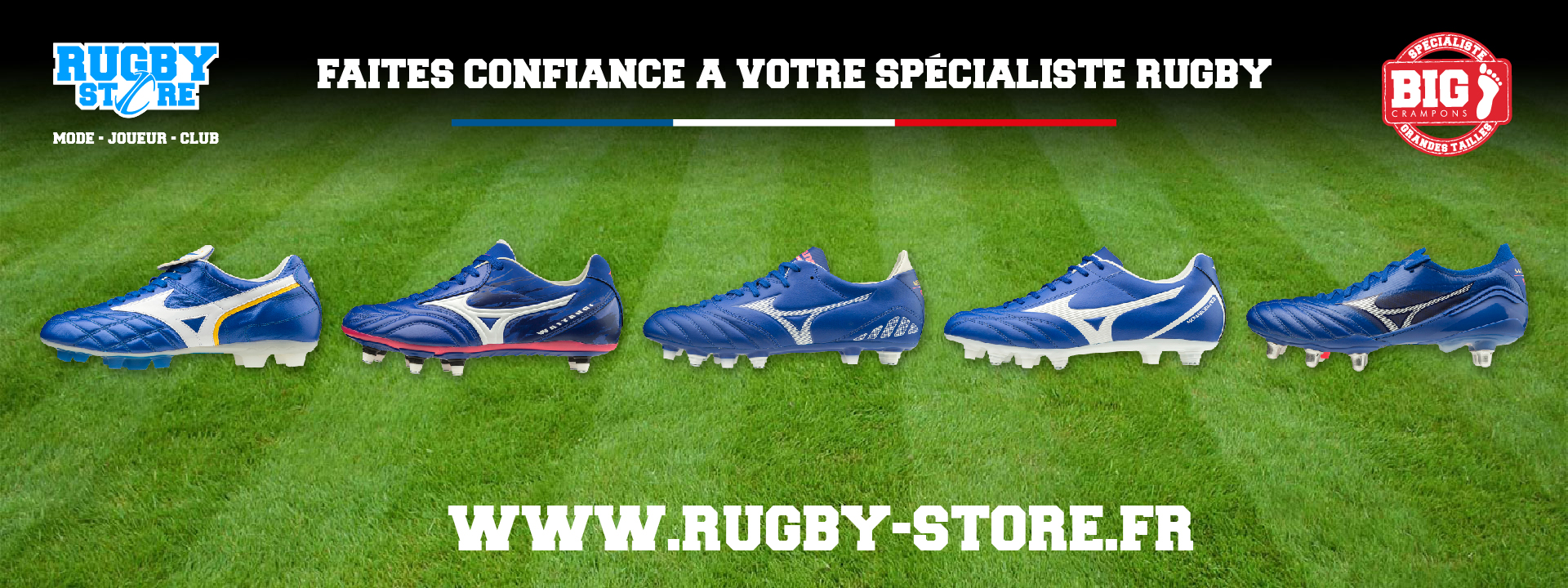 rugby store crampons mizuno